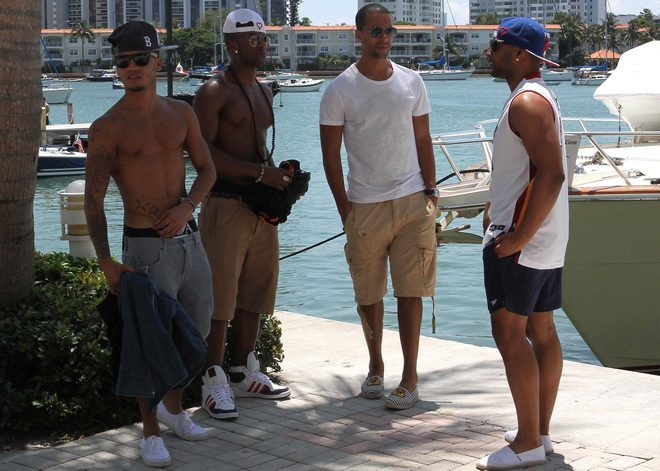 JLS Takes a Yacht Cruise in Miami