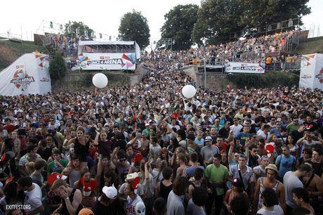 Crowd during James Zabiela set #EXIT2011