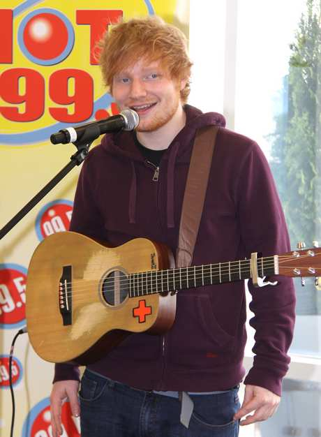 Ed Sheeran Receiving His Certified Gold Record