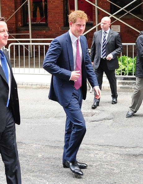 Prince Harry & David Cameron Visit Milk Studio In New York