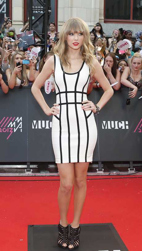 Singer Swift arrives on the red carpet for the MuchMusic Video Awards in Toronto