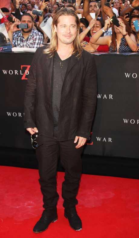 "NYC: Brad Pitt "" World War Z"""
