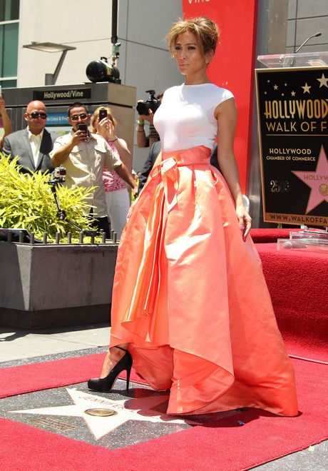 Jennifer Lopez Honored With 2,500th Star On The Hollywood Walk Of Fame