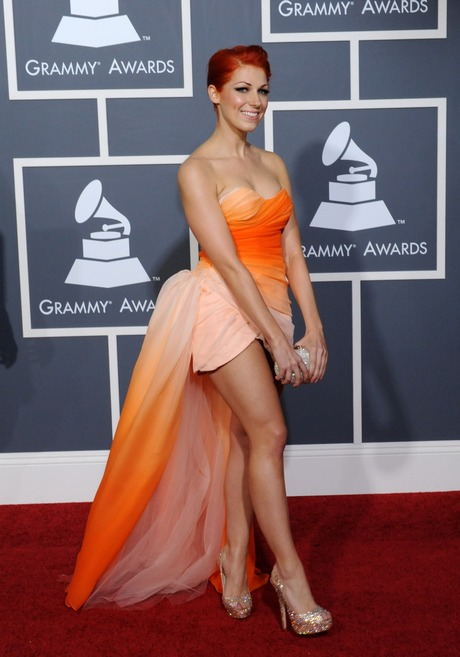 Bonnie McKee arrives at the 53rd annual Grammy Awards in Los Angeles