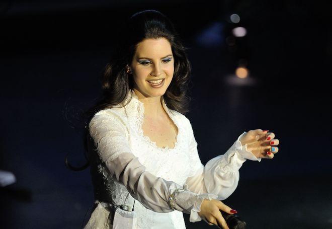 PARIS : Lana Del Rey performs live at Olympia