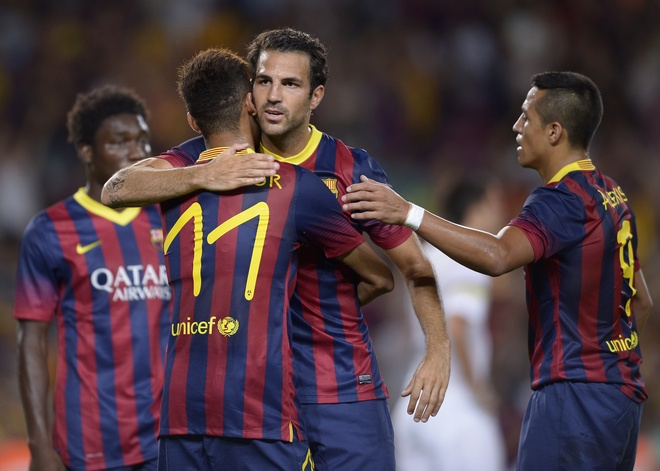 Neymar, Cesc Fabregas