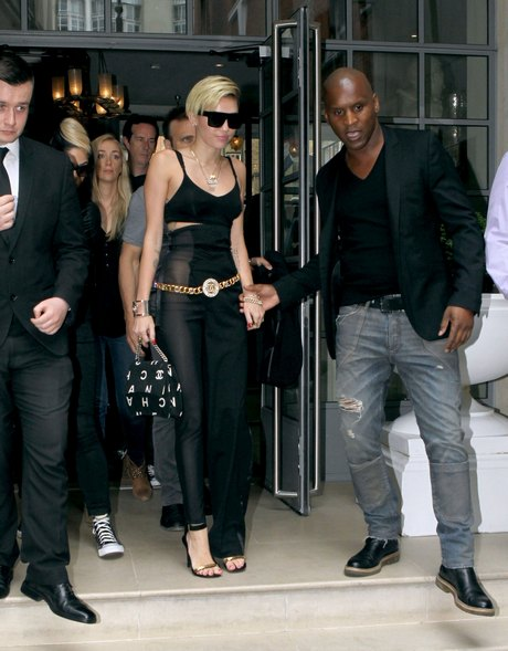 Miley Cyrus Leaving Her London Hotel