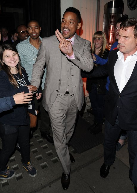 Will Smith Dines Out In London