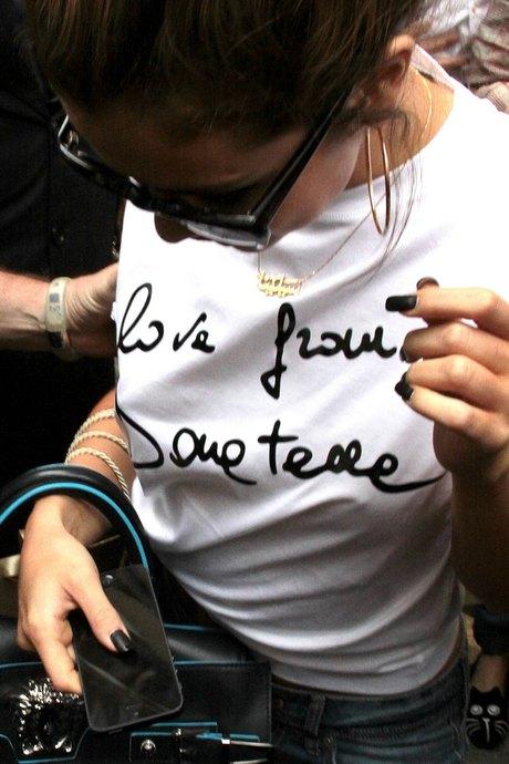 Selena Gomez Shops At Versace
