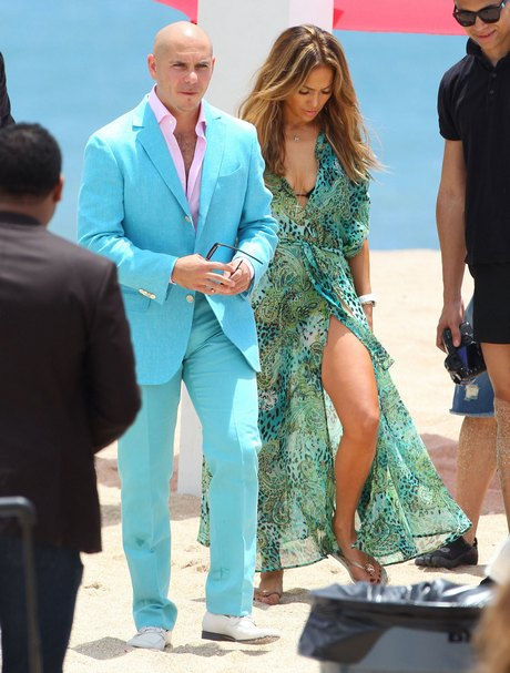 J-Lo & Pitbull Filming Her New Music Video 'Live It Up'
