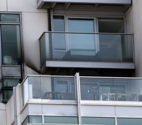 Exclusive... Liam Payne's Charred Balcony After Heater Fire Burned His Friend!