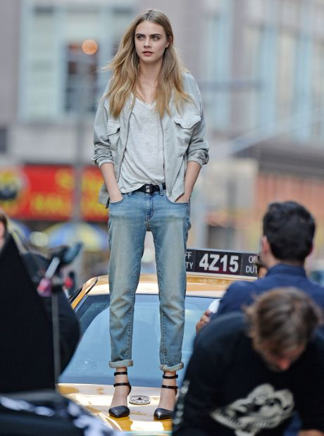 Cara Delevingne Does A DKNY Photo Shoot In New York