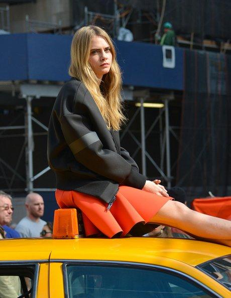 Cara Delevingne & ASAP Rocky Pose For DKNY Photo Shoot