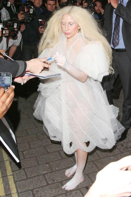 Lady Gaga Brings Her Ghostly Look To London