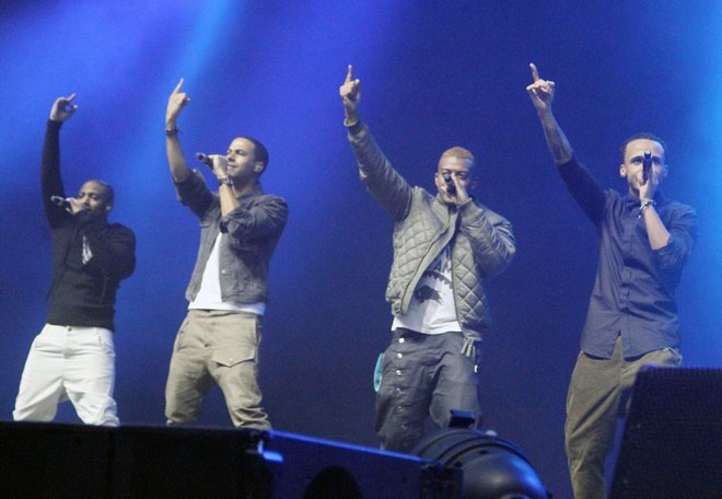 JLS Performing At The Key 103 Jingle Bell Ball (USA & OZ ONLY)