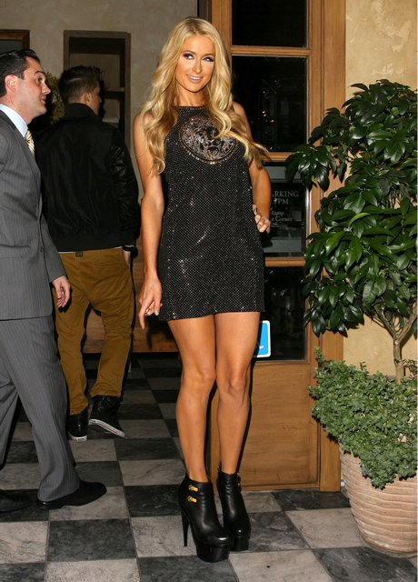 Paris Hilton At The RivaBella Restaurant For Her Single Release Dinner