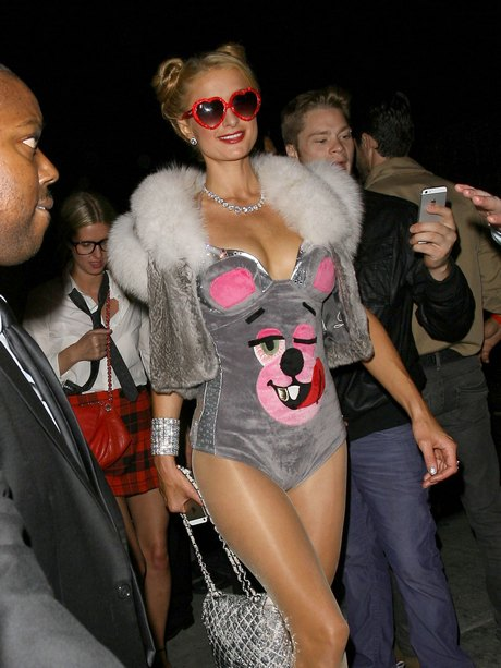 Paris Hilton Attends Halloween Party in Hollywood