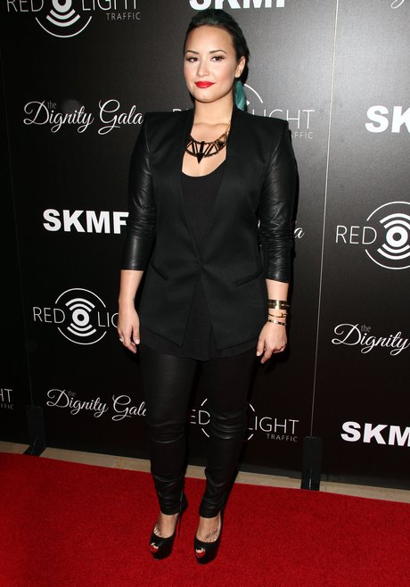 Demi Lovato Supports Launch Of Redlight Traffic App At Dignity Gala in LA