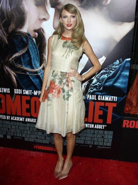 Hailee Steinfeld and Taylor Swift at ROMEO & JULIET Premiere in LA