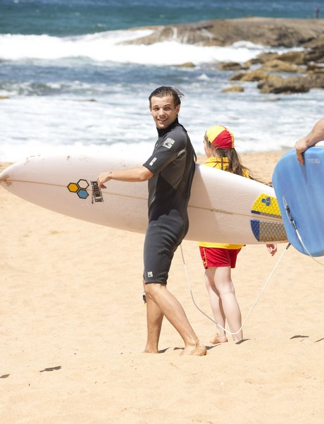 Liam Payne & Louis Tomlinson Learning To Surf In Sydney