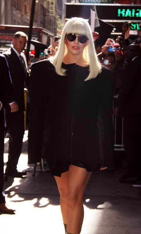 New-York: Lady Gaga At 'Good Morning America'