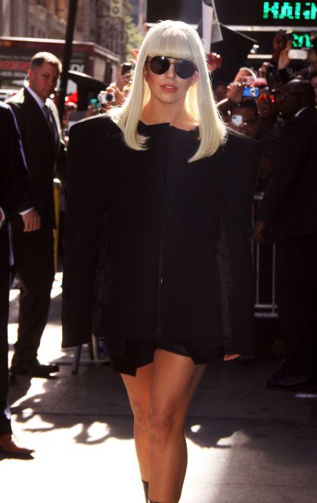 New-York: Lady Gaga At 'Good Morning America'