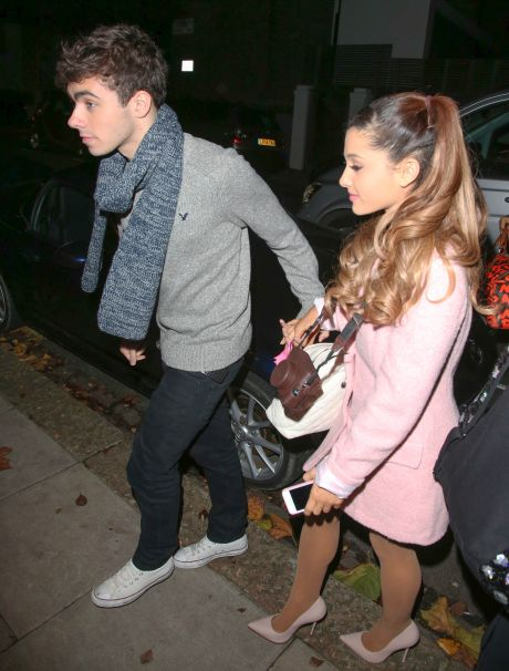 Ariana Grande & Nathan Sykes Have A Night Out In London