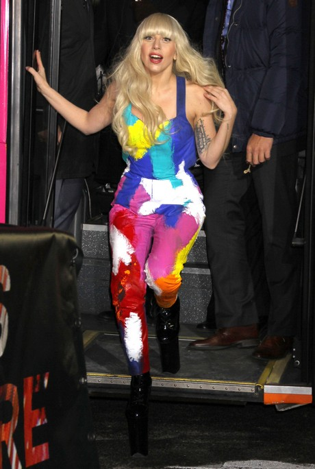 Lady Gaga Opens The H&M Times Square Store