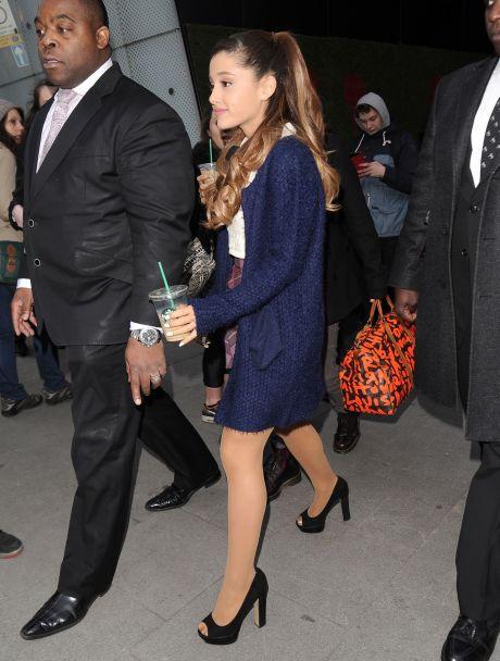 Ariana Grande Visits BBC Radio One Studio