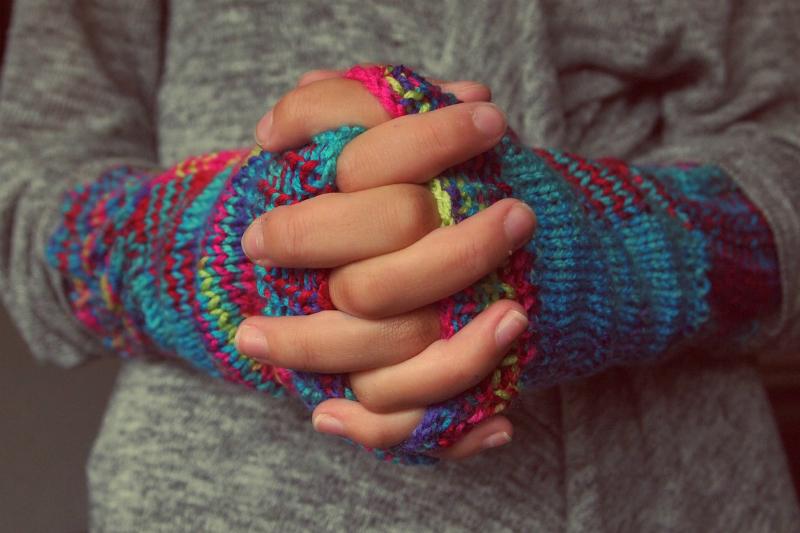 Zima, rukavice